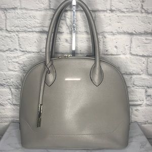 Mary Point Vegan Leather Gray Satchel